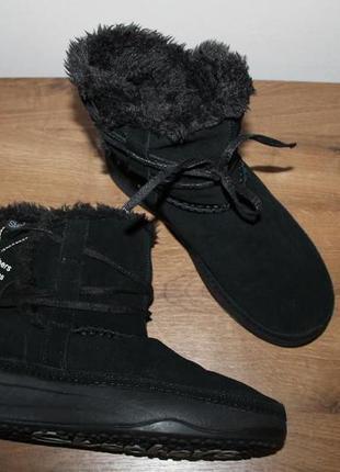 Зимние кожаные ботинки, полусапожки skechers