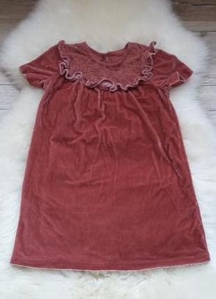 Бархатное платье некст