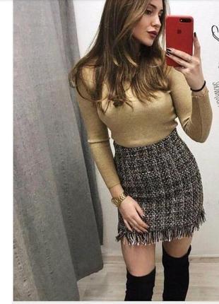Очень теплая шерстяная юбка