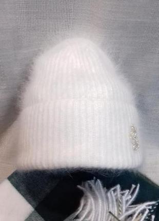 Мега пушистая и теплая шапочка