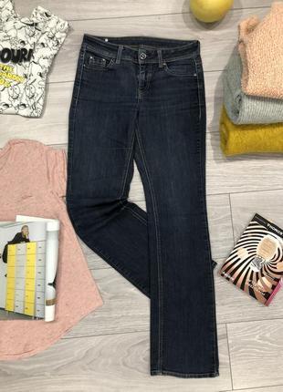 Esprit джинсы прямые клеш темно синие
