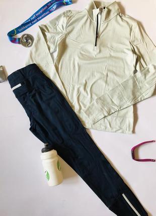 Утеплённый спортивный костюм лосины и кофта для бега и спорта