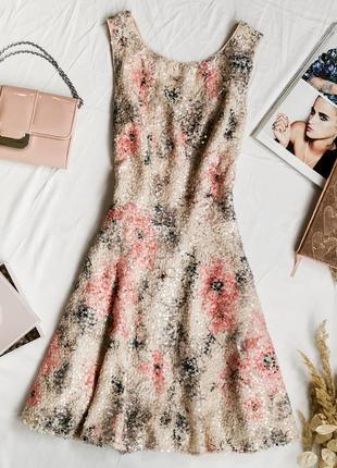 Шикарное платье нежной расцветки в пайетках dr1947072  oasis