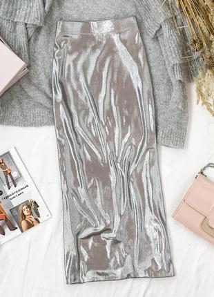 Металлизированная юбка - карандаш ниже колен  ki1948039  h&m