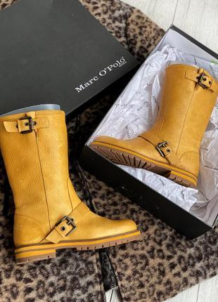 Кожаные сапоги,ботинки marc o polo