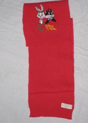 Яркий шарф для девочки в составе шерсть
