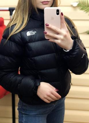 The north face tnf норт фейс пуховик чёрный 700 наливка оригинал пух куртка