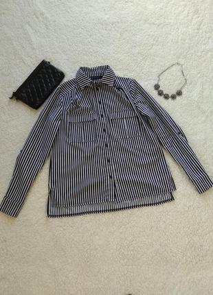 Стильная полосатая блуза-рубашка