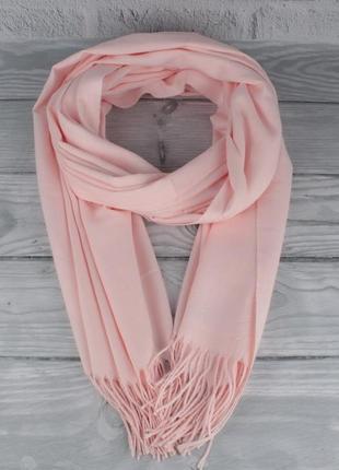 Нежный кашемировый шарф, палантин cashmere 7480-6 светло-розовый, расцветки