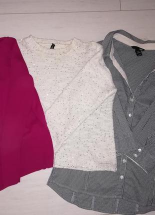 Пакет брендовых вещей, свитер,кофта,рубашка
