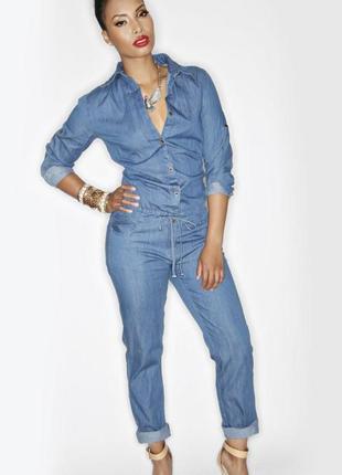 Новый джинсовый комбинезон denim co размер м