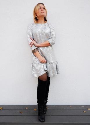 Нарядное платье с рюшей ❤️
