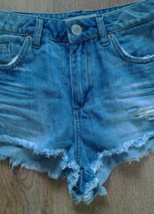 джинсові шорти з високою талією topshop moto