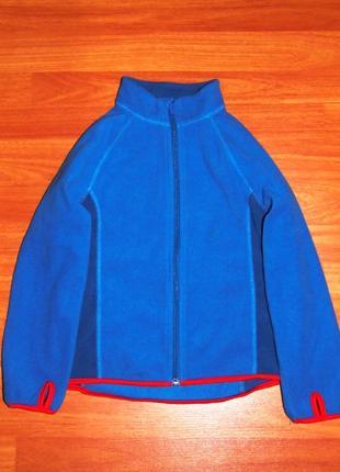 Синяя флисовая кофта,флиска, 4-5 лет,110,116