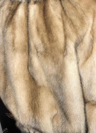 Скидка шикарная итальянская норковая шуба искусстенный мех