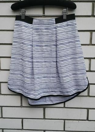 Красивая,легкая и удлиненная по заду юбка armani, в полоску. (коллекция   лето 2013 года)