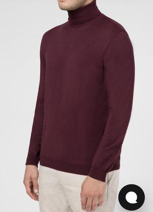 Пуловер шерстяной гольф стильный дорогой бренд германии windsor размер 54