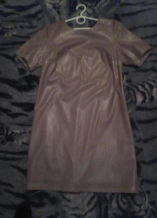 Платье єко кожа новое