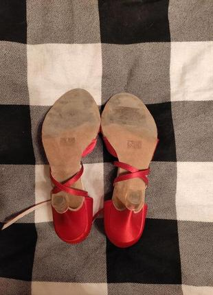 Красные туфли для танцев, для латиноамериканских танцев, латина, атласные туфли6 фото