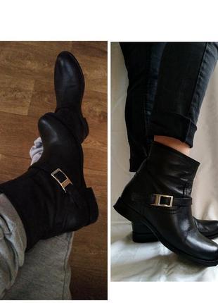 Ботинки, сапоги, демисезон /зима. натуральная кожа. prada оригинал