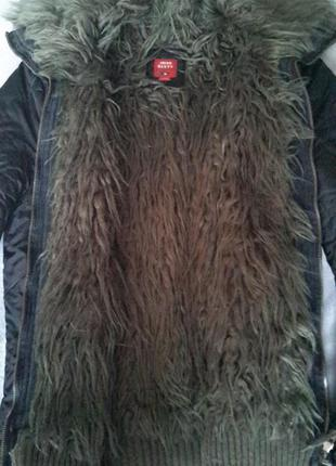 Крутая зимняя куртка  итальянского бренда miss syxty оригинал c искуственным мехом, размер м-l