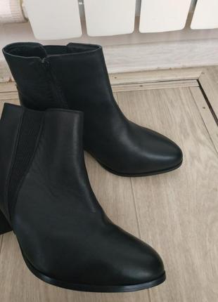 Кожаные ботинки (деми) р.40-41 кожа!2 фото