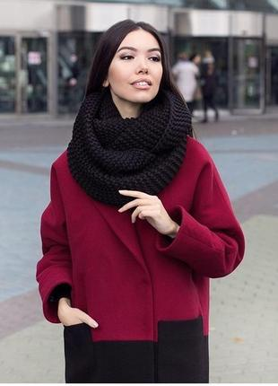 Шерстяной шарф-снуд