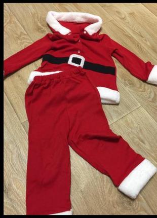 Новогодний костюм для мальчика дед мороз