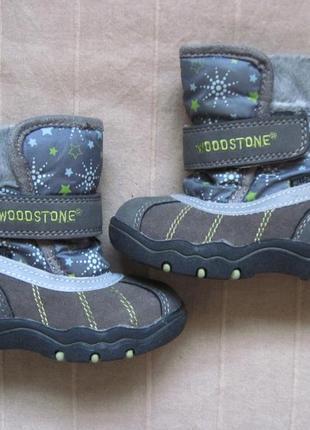 Woodstone (21) зимние мембранные ботинки десткие