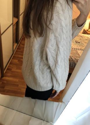 Джемпер свитер оверсайз молочного цвета4 фото