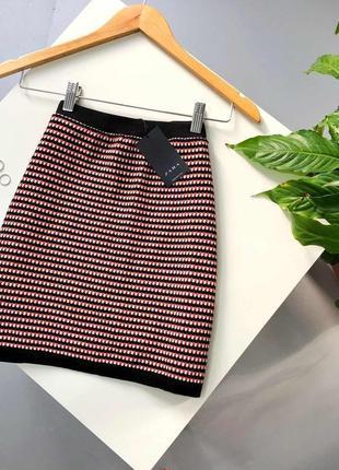 Вязаная юбка в стиле шанель zara