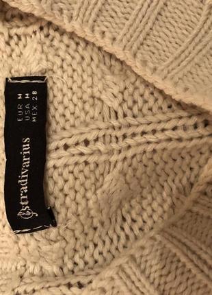 Джемпер свитер оверсайз молочного цвета8 фото