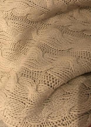 Джемпер свитер оверсайз молочного цвета9 фото