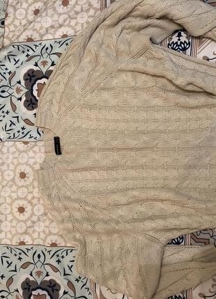 Джемпер свитер оверсайз молочного цвета10 фото