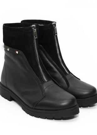 888dbcddda38 ... Женские зимние ботинки полусапожки на меху на низком каблуке,модель  20164