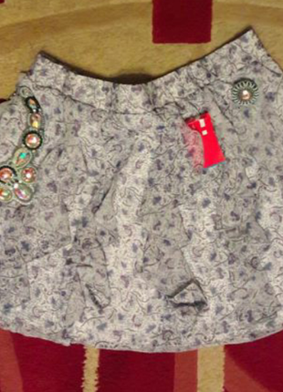 Фирменная юбка с воланами с рюшами в принт no excuse шифоновая юбка