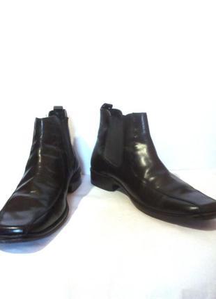 Кожаные демисезонные мужские ботинки челси от бренда beckett, р.45 код m4580