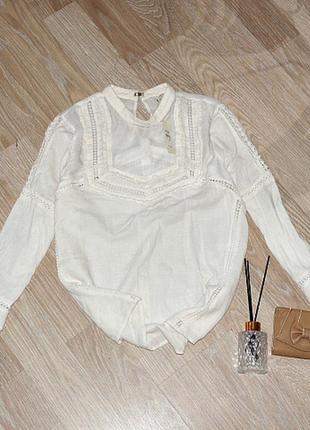Новая блуза с кружевом, с натуральной ткани,вещи в наличии💚+скидки, заходите💚