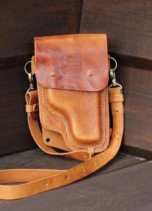 Сумка-кобура, мужская кобура, женская кобура, кожаная сумка, сумка для путешествий