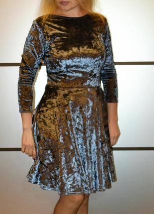 Велюровое платье topshop размер s