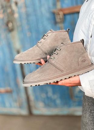 Ugg classic neumel boot grey man мужские зимние угги сапоги серые зима овчина