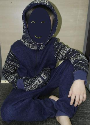 Слип трикотажный кигуруми пижама домашний костюм комбинезон человечек