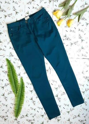 🎁1+1=3 фирменные бирюзовые зауженные узкие высокие джинсы скинни redhering, размер 46 - 48