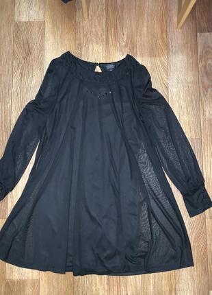 Двухслойное капроновое платье