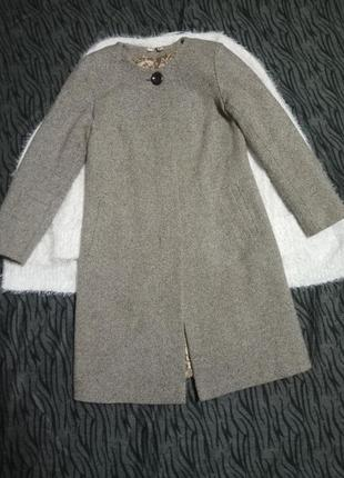Осеннее пальто шерсть 60%• пальто осіннє•трапеция