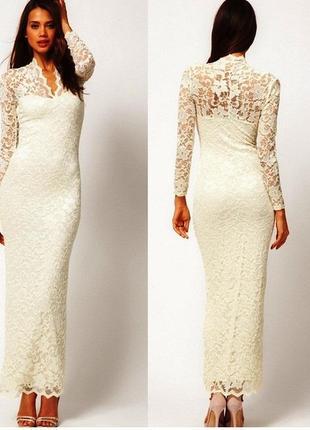 Свадебные платья длинный рукав