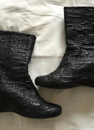 Оригинальные зимние/осенние  кожаные сапоги baldinini