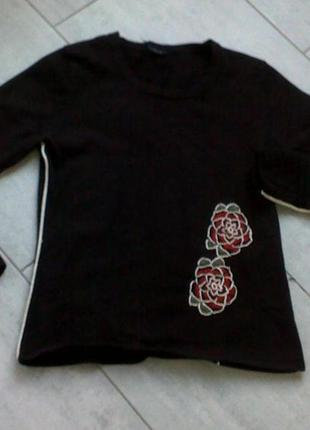 «свитер с аппликацией красивый yuka р 44-46