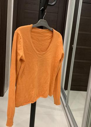 Модный оранжевый пуловер,джемпер,лонгслив   2020
