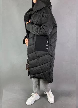 Пуховик одеяло кокон на магнитах куртка оверсайз био пух.